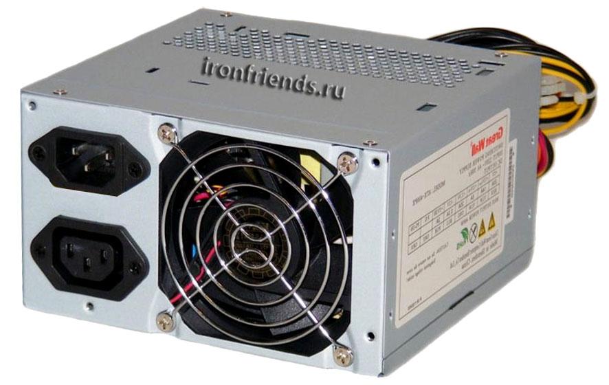 Блок питания с вентилятором 80 мм