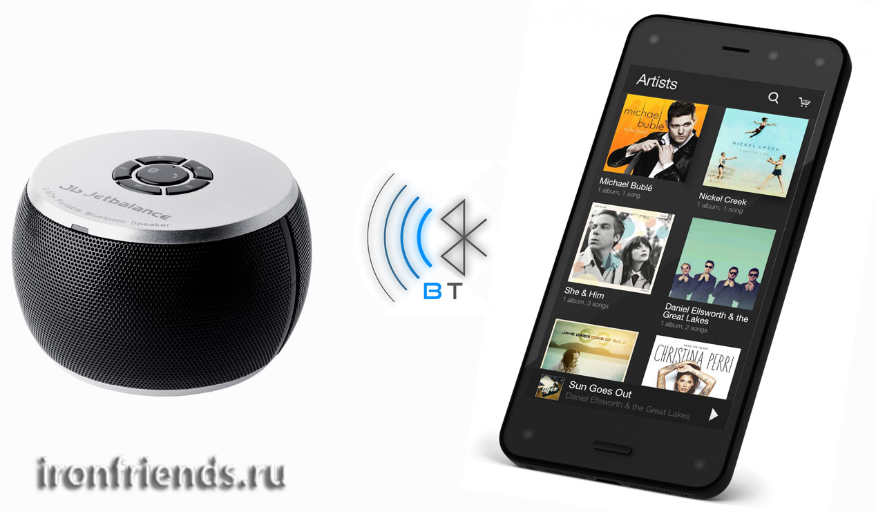Портативная колонка с Bluetooth