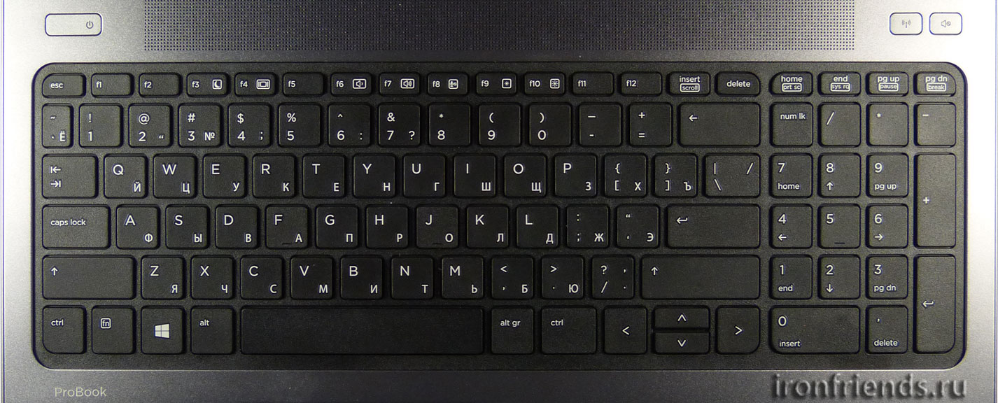Островная клавиатура ноутбука