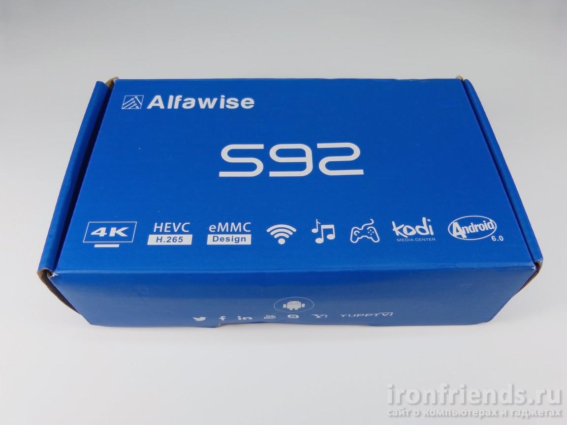 Упаковка Alfawise S92