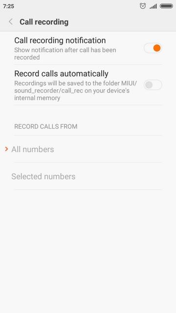 Настройки телефона в MIUI