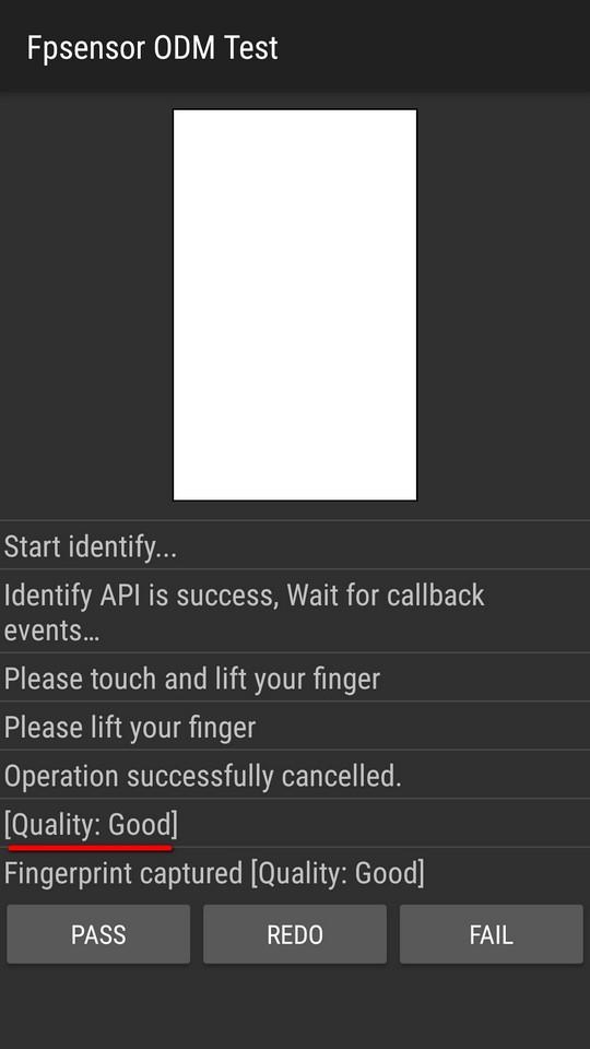 Ручной тест сканера отпечатков