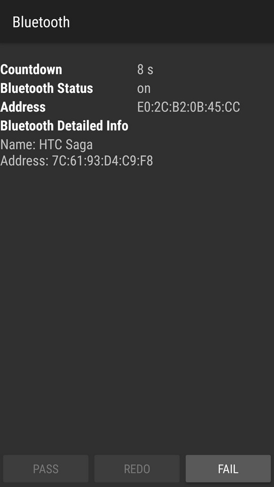 Тест Bluetooth
