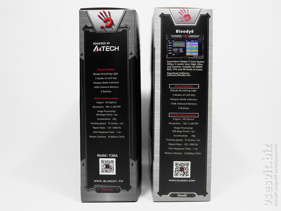 Характеристики A4Tech Bloody V3MA и V5M