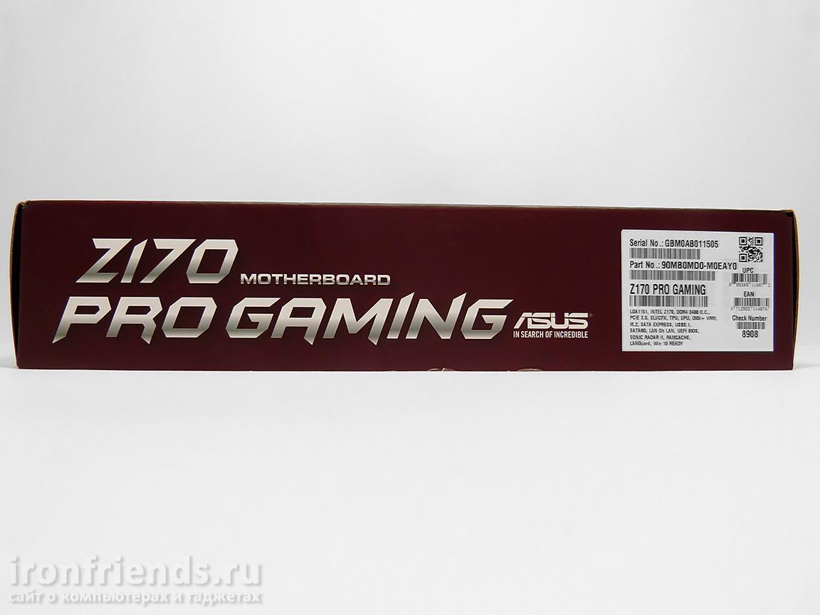 Упаковка Asus Z170 Pro Gaming