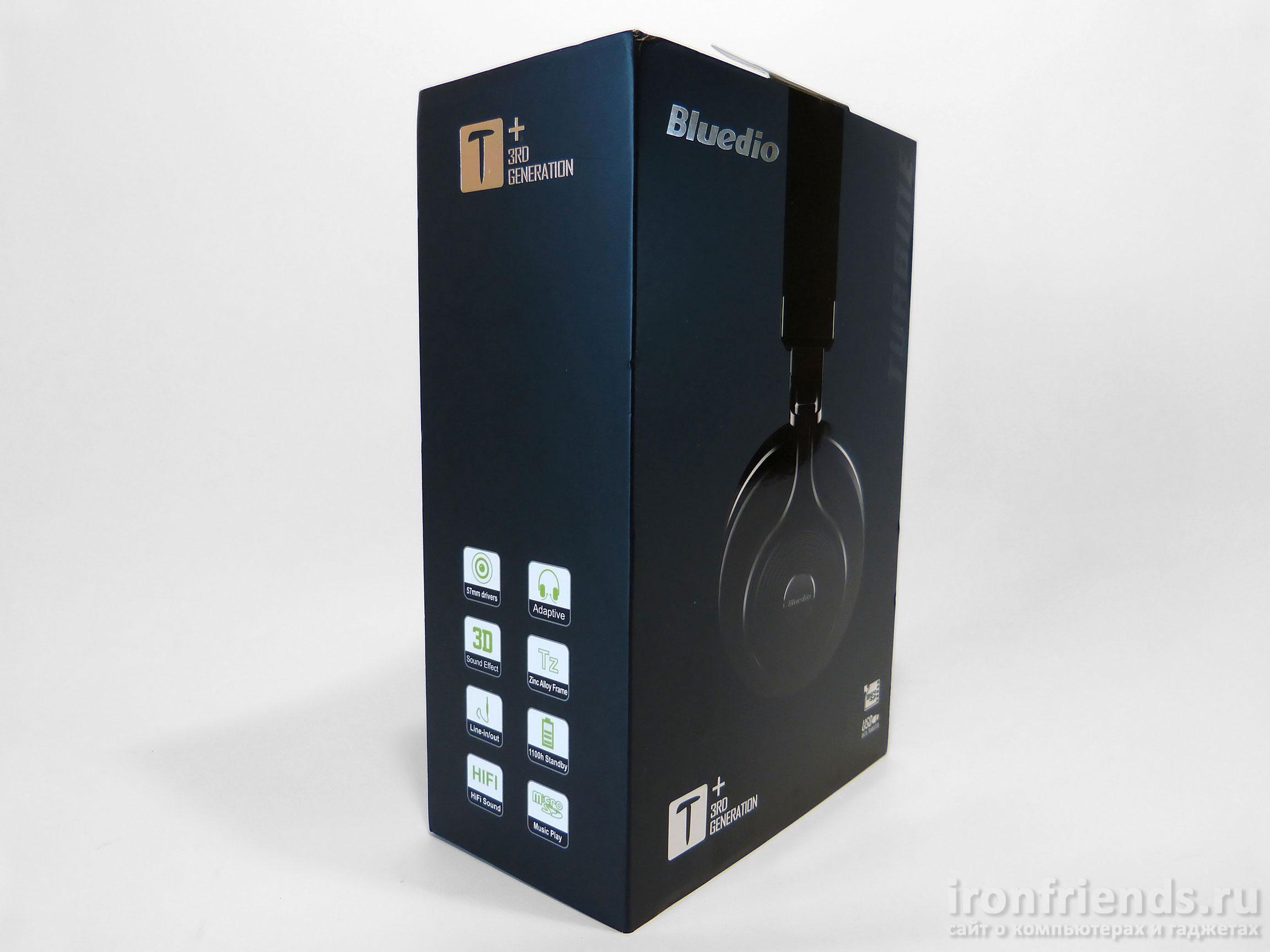 Упаковка Bluedio T3+