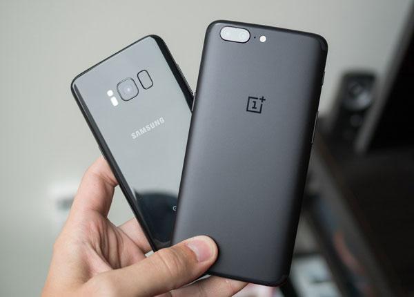 OnePlus 5 и Samsung Galaxy S8