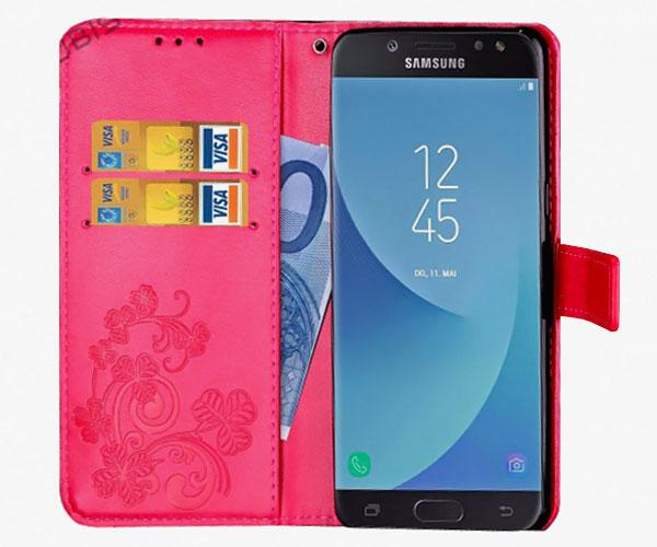 Чехол книжка с орнаментом для Samsung Galaxy J7 2017