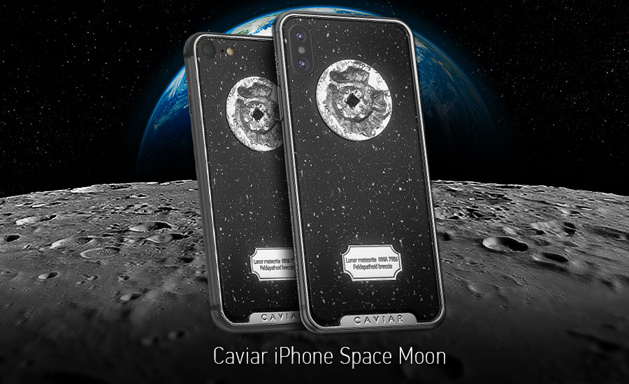 Caviar iPhone X Space Moon