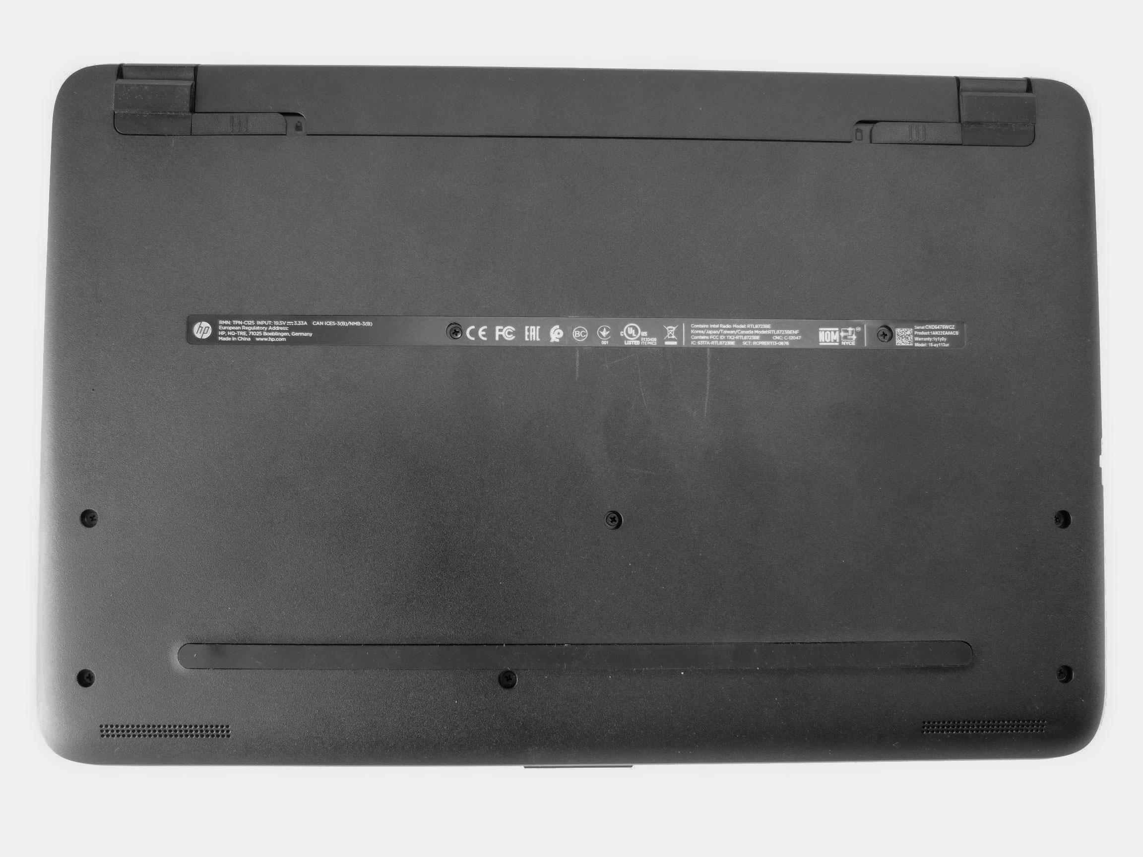 Ноутбук HP 15-ay113ur