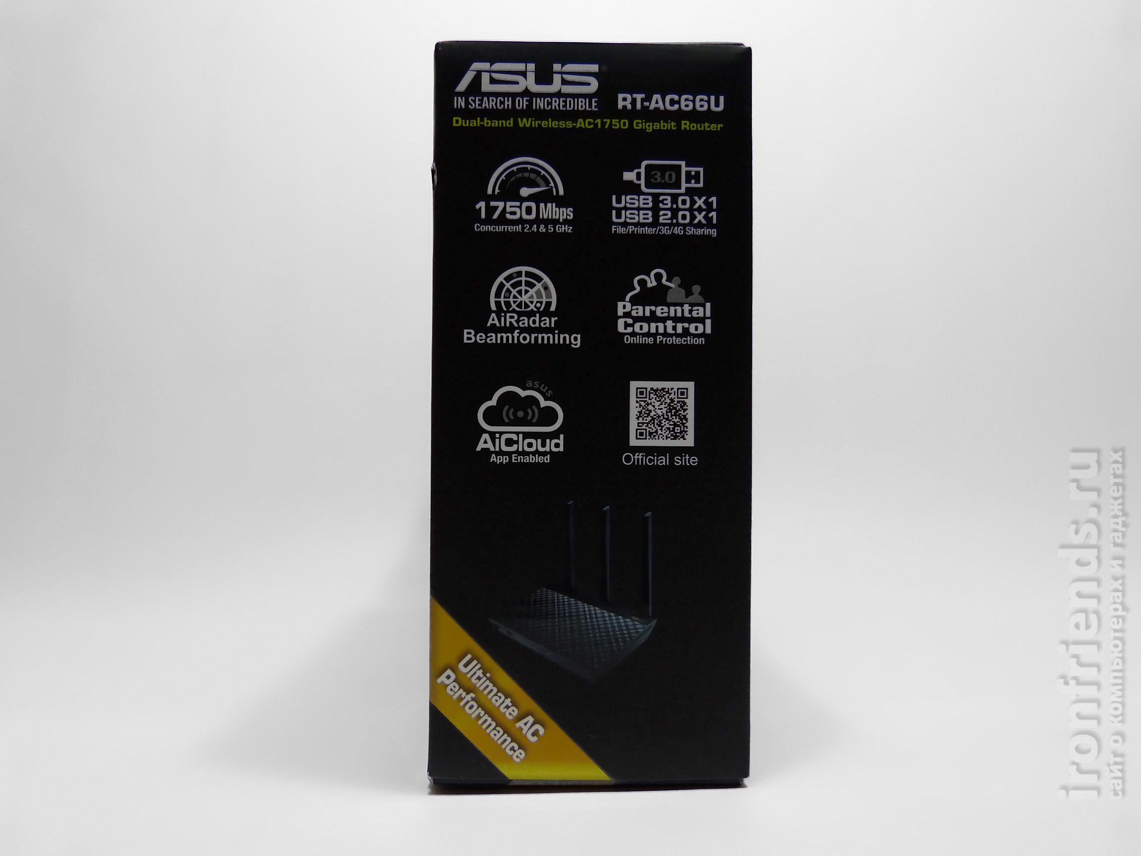 Характеристики ASUS RT-AC66U B1