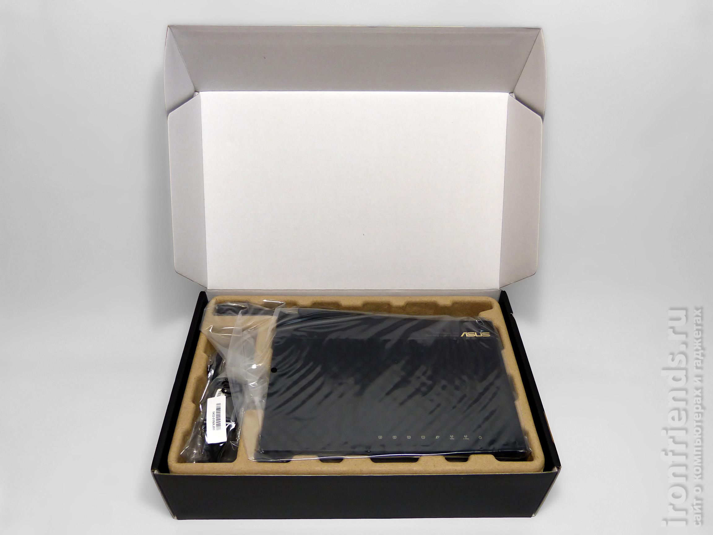 Упаковка ASUS RT-AC66U B1