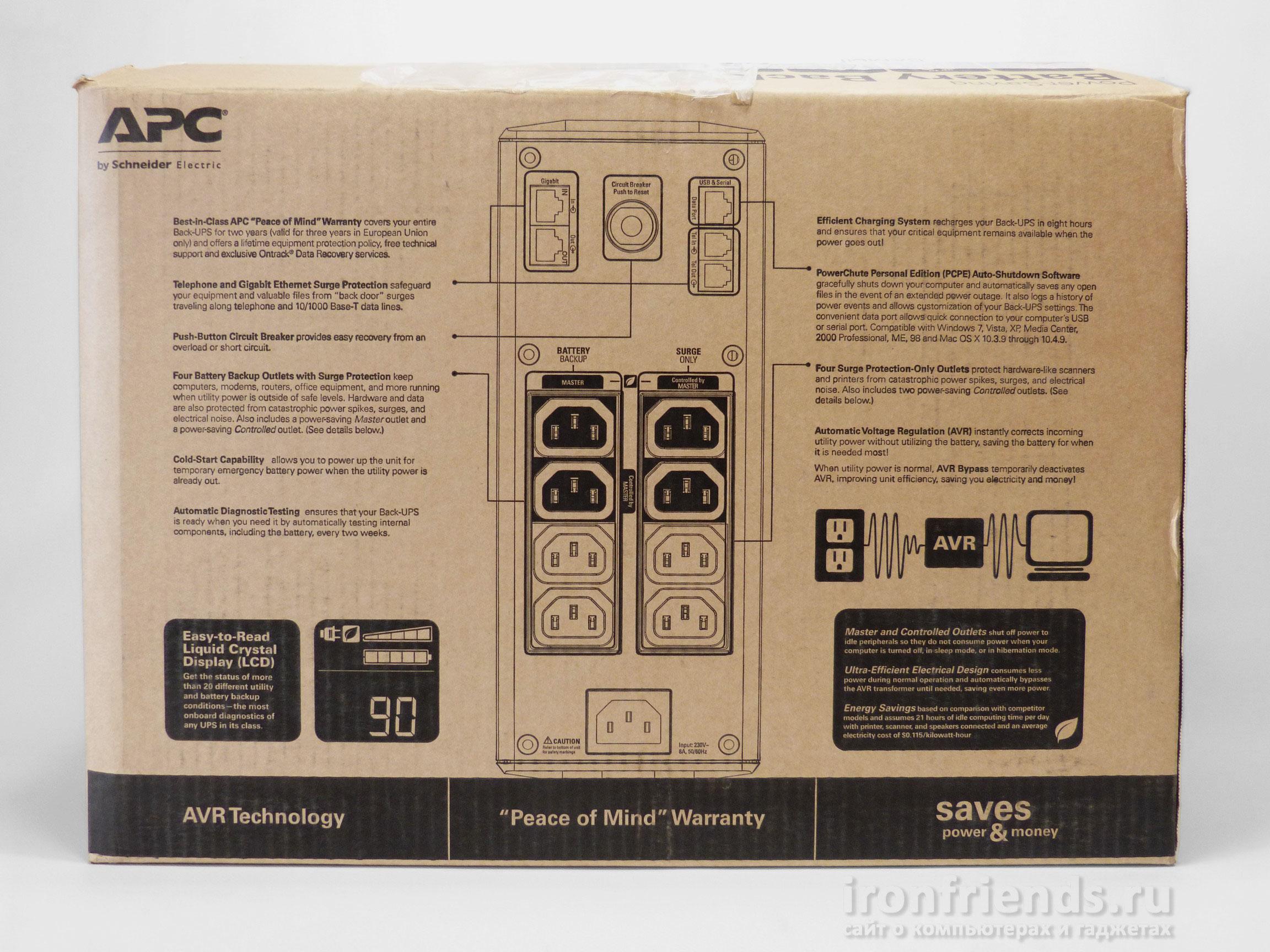 Упаковка APC Back-UPS Pro 900 (BR900GI)
