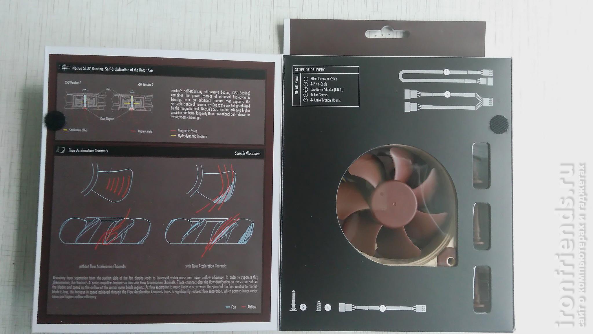 Особенности Noctua NF-A8 PWM