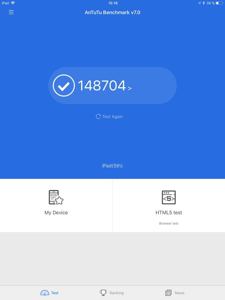 Тест iPad 2017 в AnTuTu