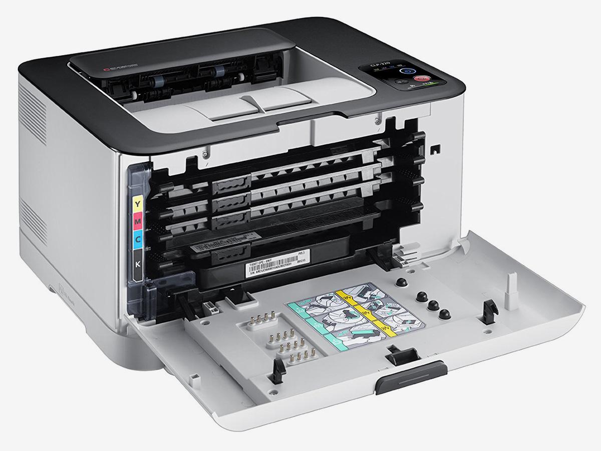 Лазерный принтер с маленькими картриджами