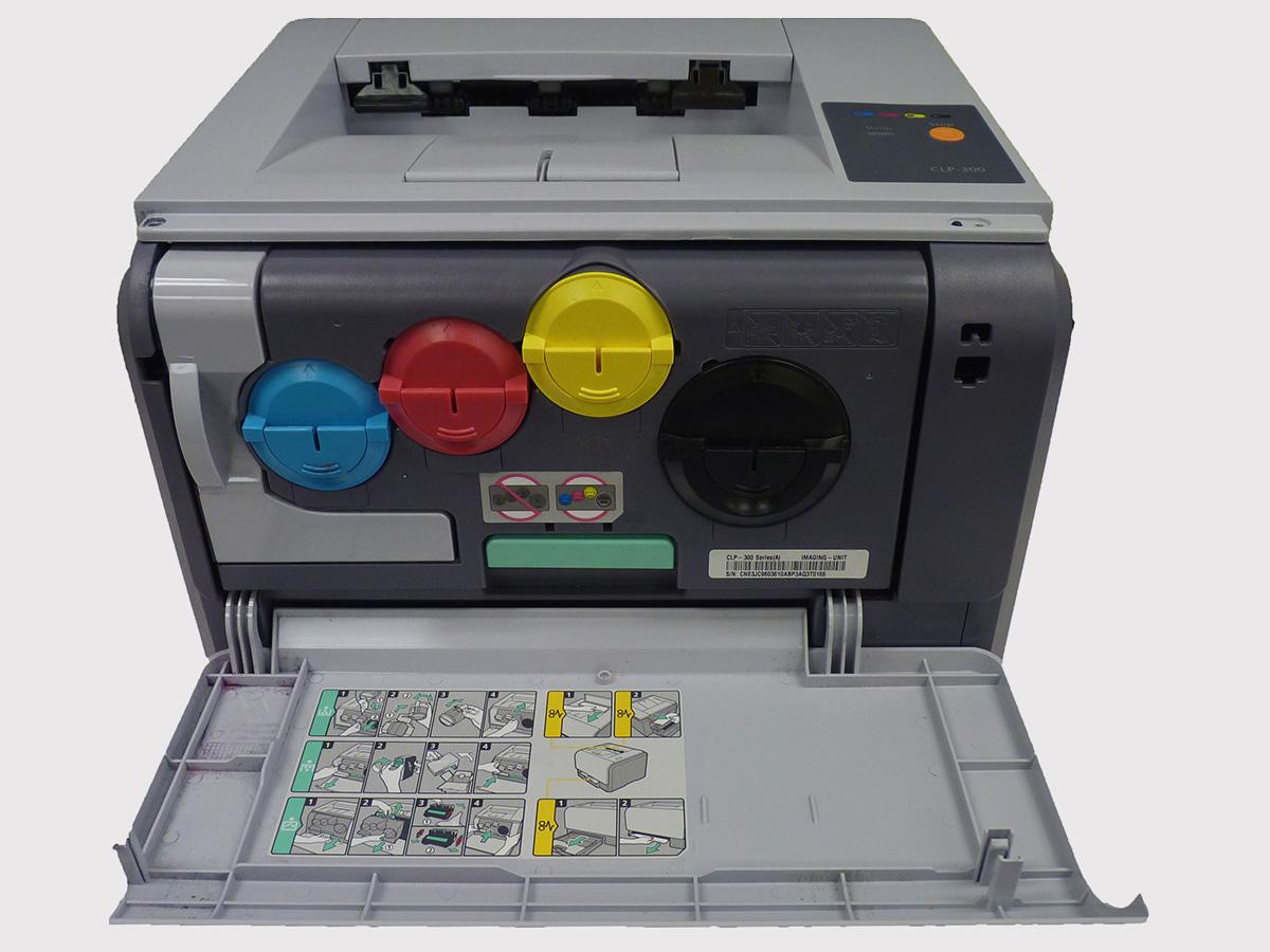 Лазерный принтер с большими картриджами