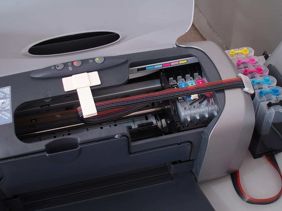 Принтер с кастомной СНПЧ