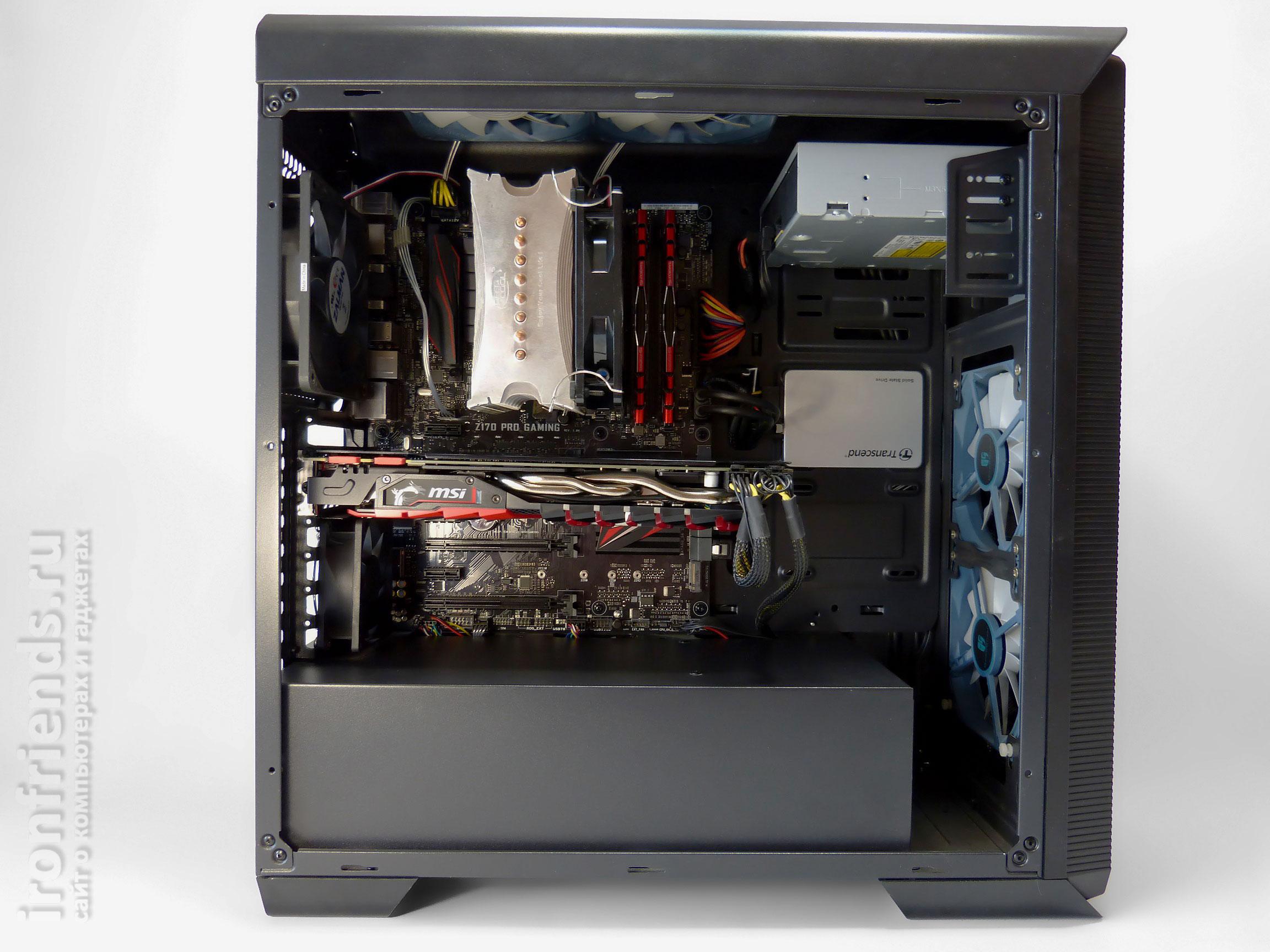 Установка MSI GTX 1080 Gaming X в корпус
