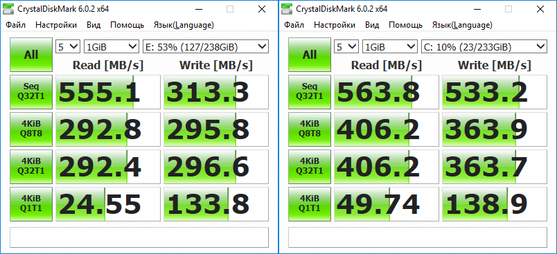 Сравнение Transcend 370S и Samsung 860 Evo