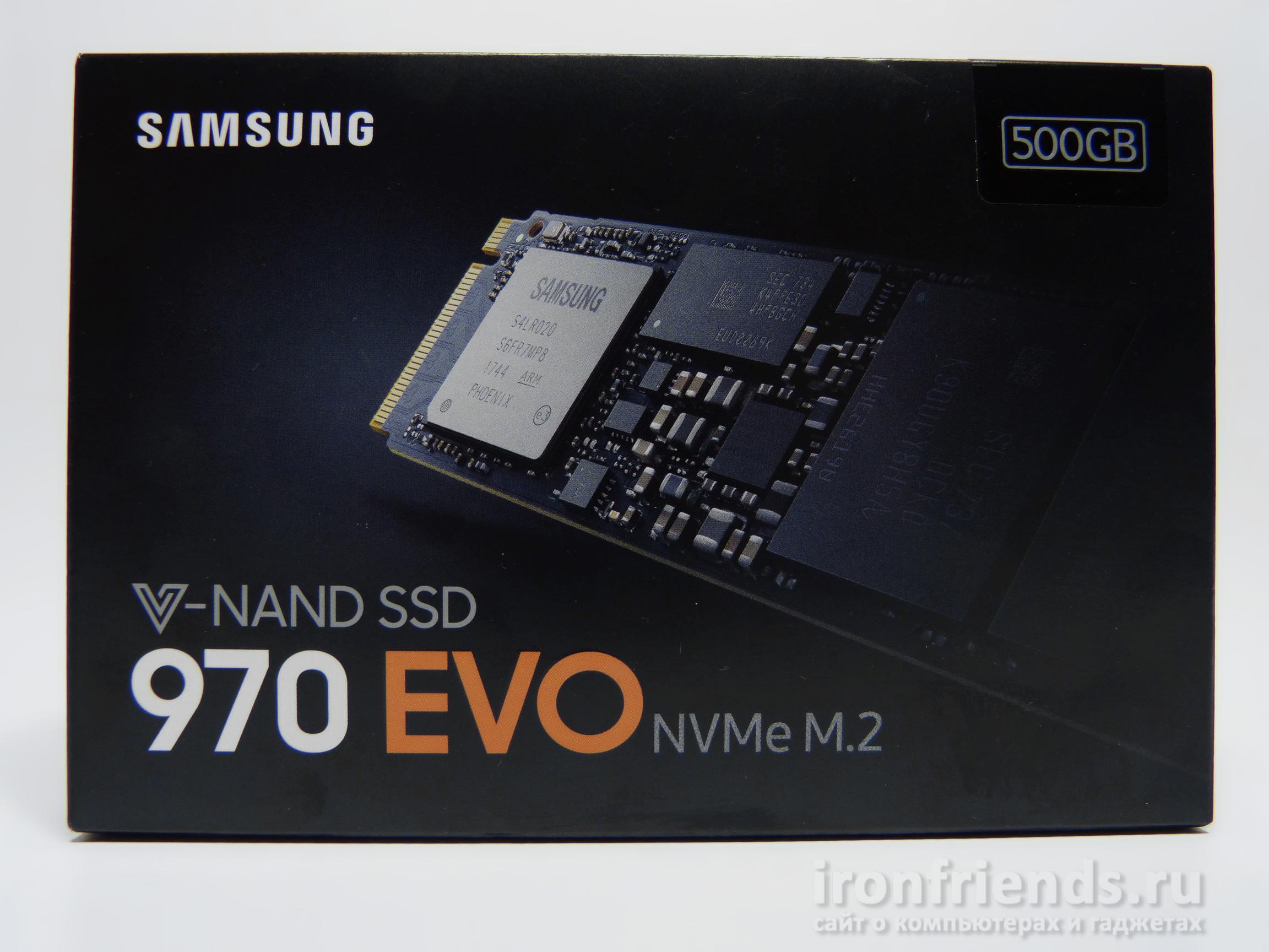 Упаковка Samsung 970 Evo