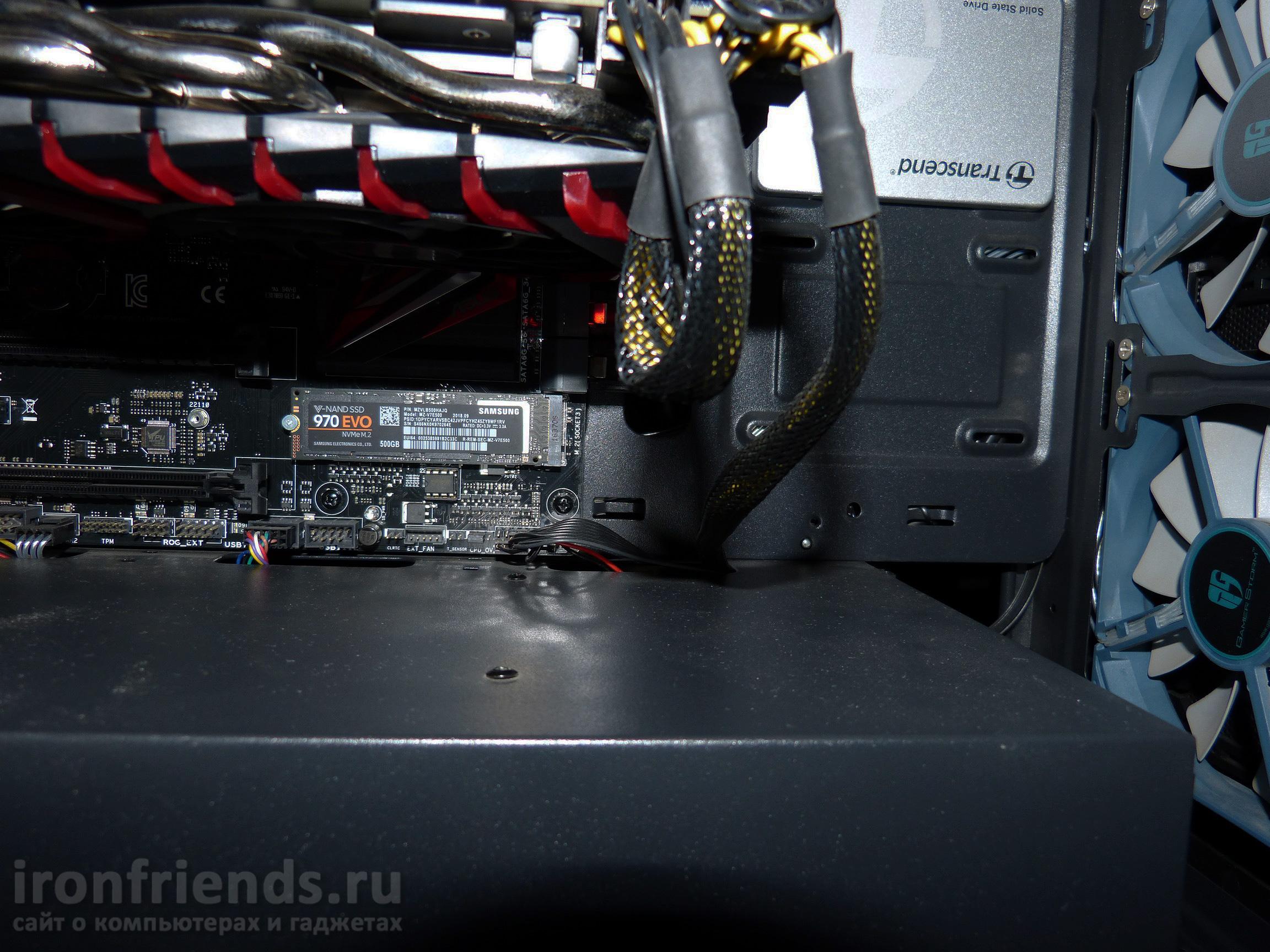 Установка Samsung 970 Evo в компьютер