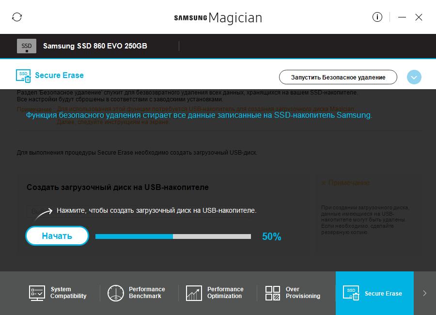 Безопасное удаление данных с SSD