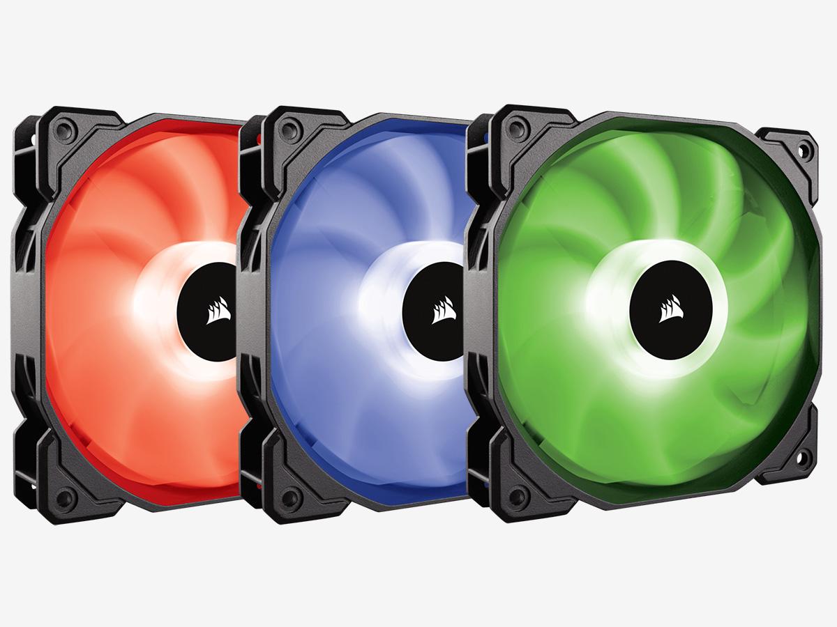 Вентиляторы Corsair SP120 RGB LED
