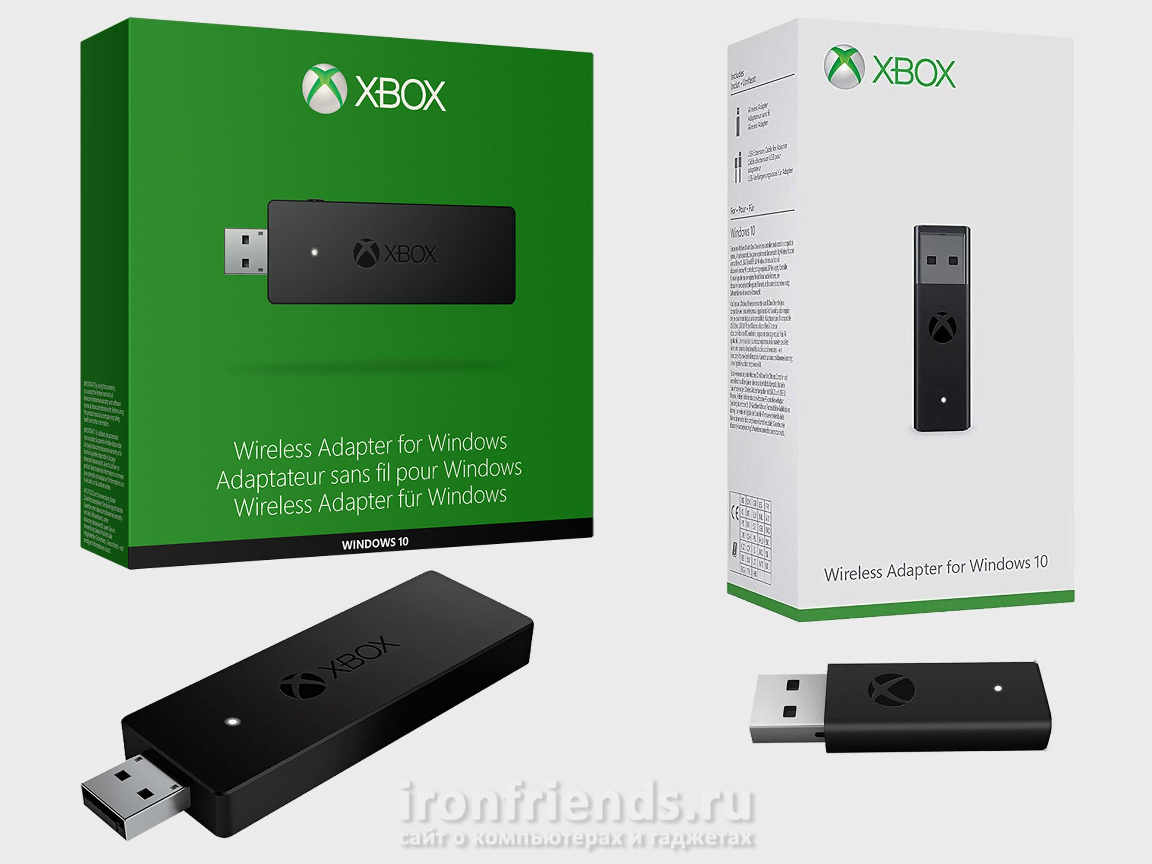 Версии Xbox Wireless Adapter for Windows