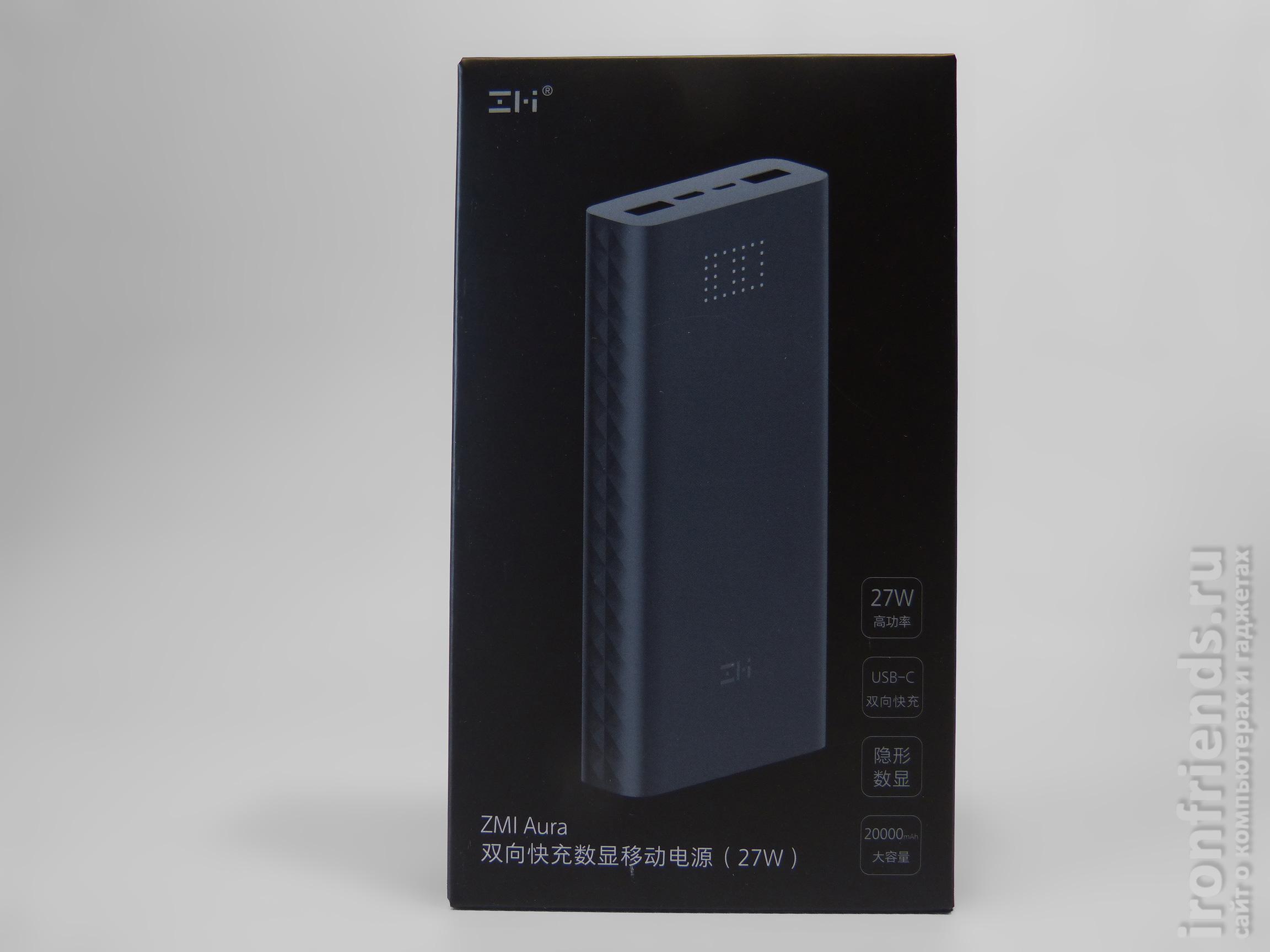 Внутренняя упаковка Xiaomi ZMi Aura 20000