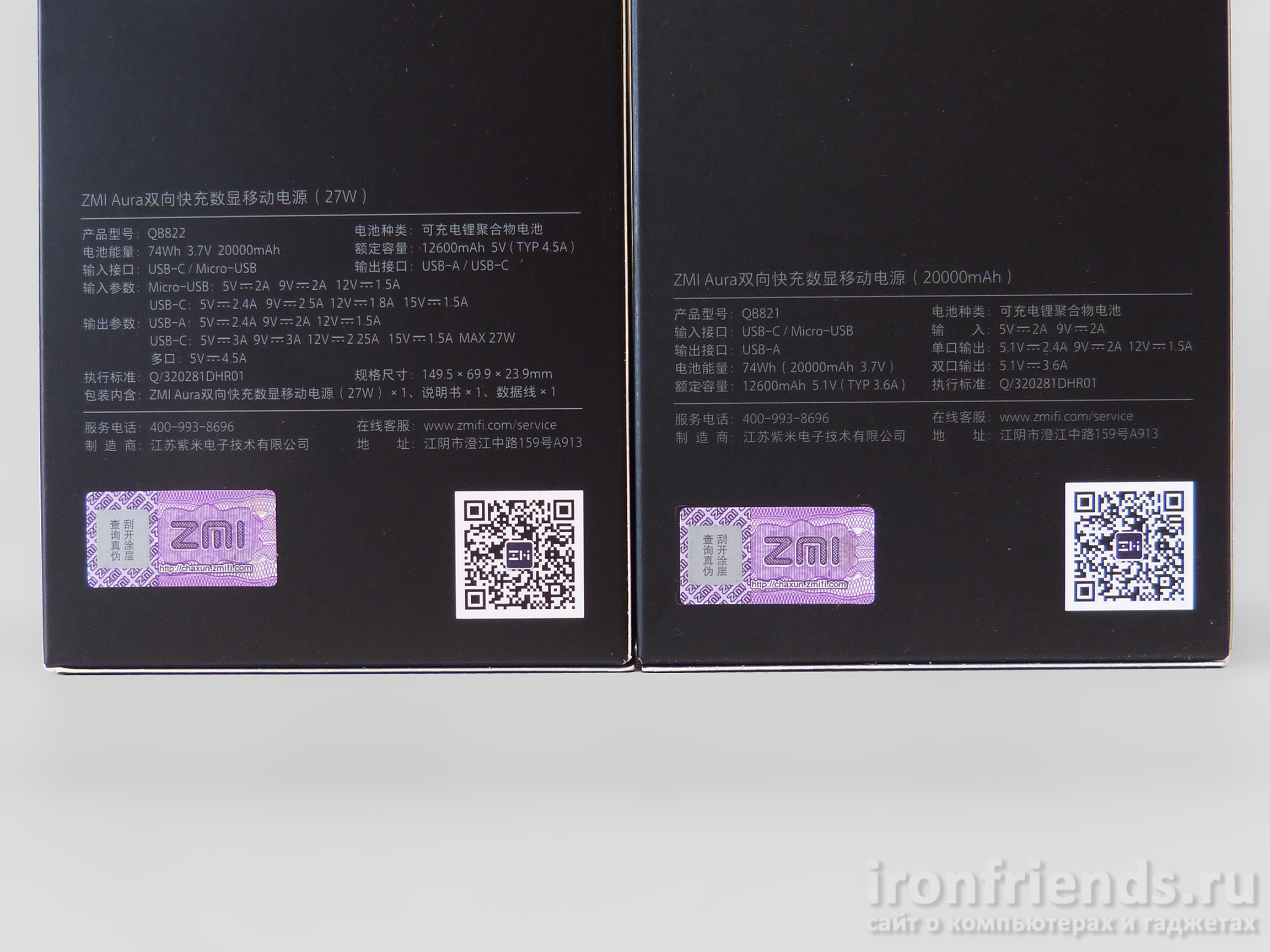 Характеристики Xiaomi ZMi Aura 20000