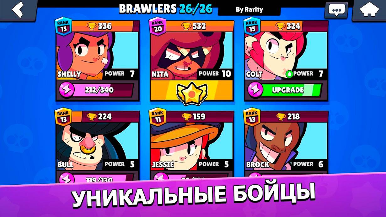 Персонажи Brawl Stars