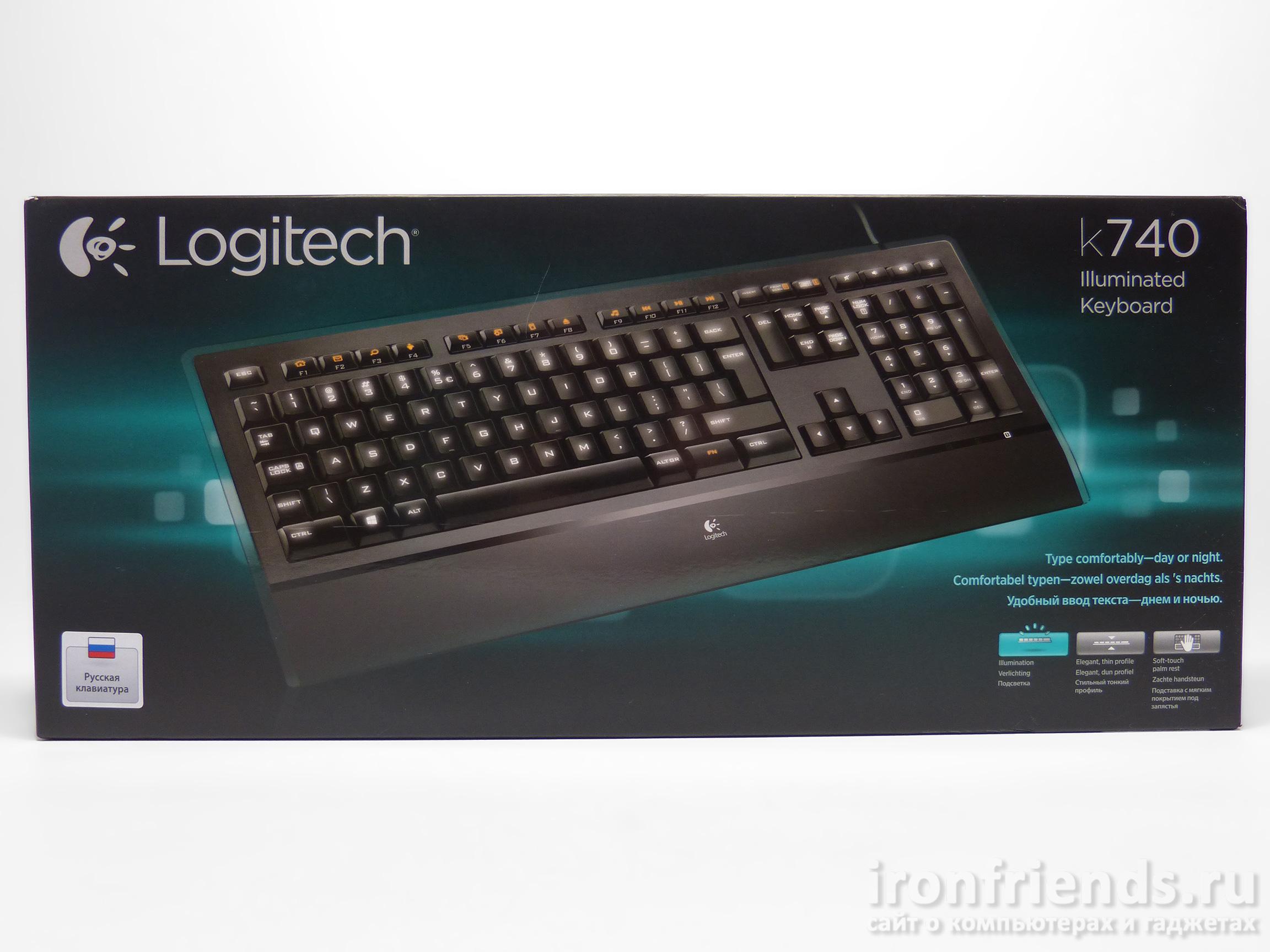 Упаковка Logitech K740 illuminated