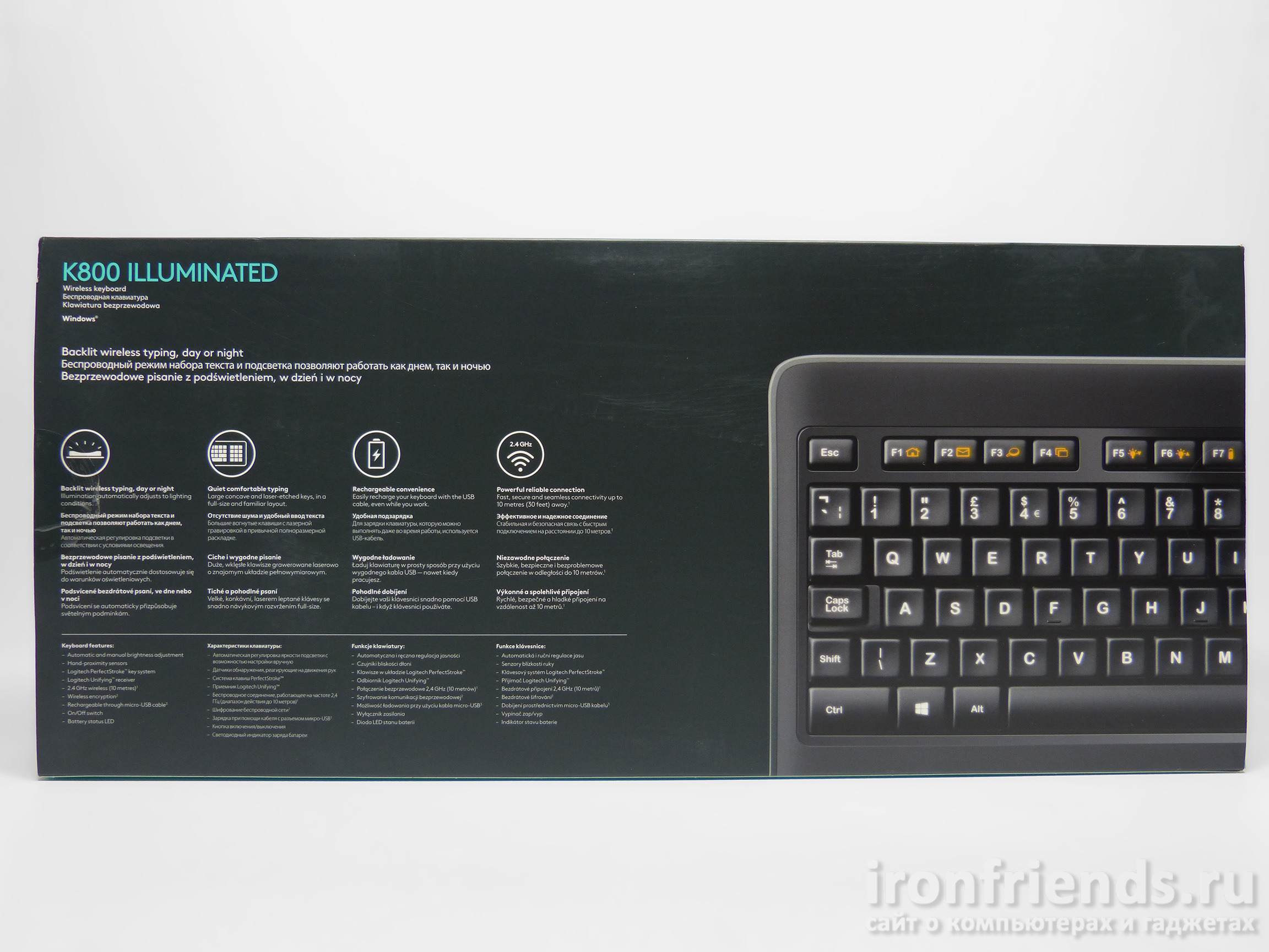 Особенности Logitech K800 illuminated