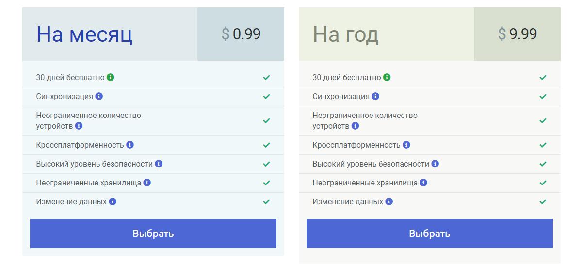 Тарифы MultiPassword