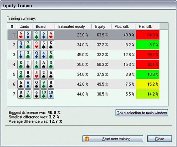 Программа Equilab Poker