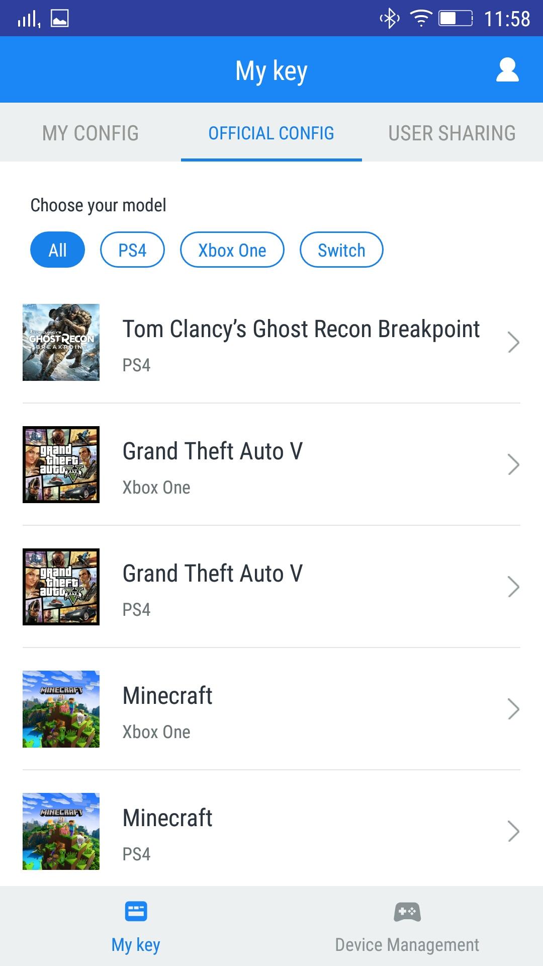 Приложение G-Crux для GameSir VX2