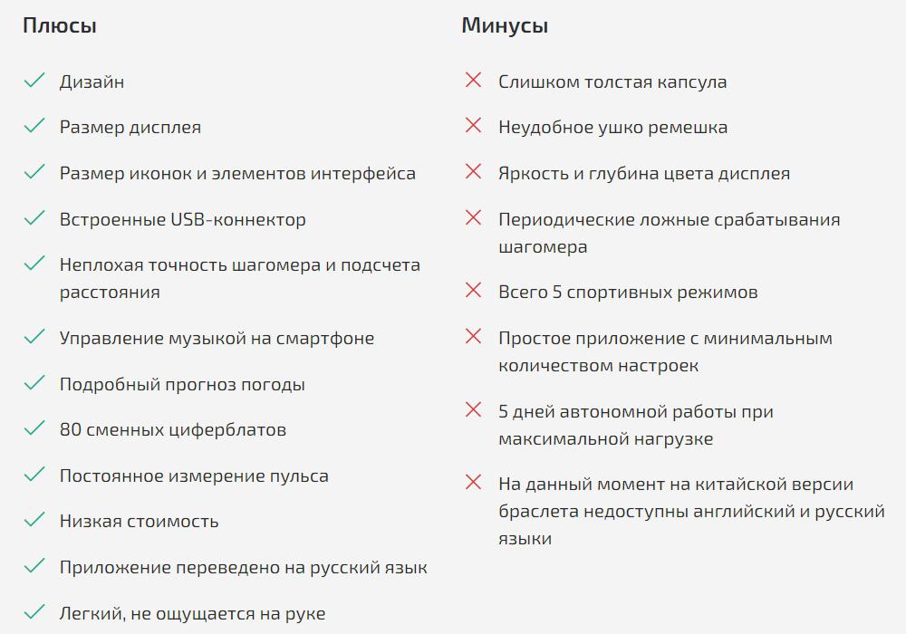 Плюсы и минусы Xiaomi Mi Smart Band 4C